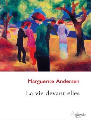 cover image of Vie devant elles