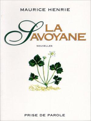 cover image of Savoyane