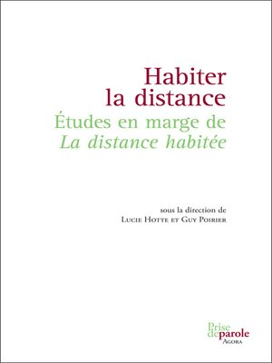 cover image of Habiter la distance