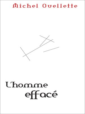 cover image of Homme effacé