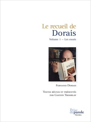 cover image of Recueil de Dorais, Volume 1