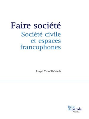 cover image of Faire société