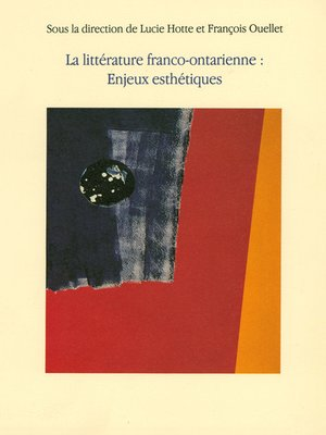 cover image of Littérature franco-ontarienne