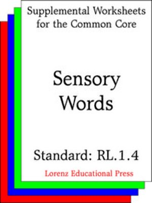 cover image of CCSS RL.1.4 Sensory Words