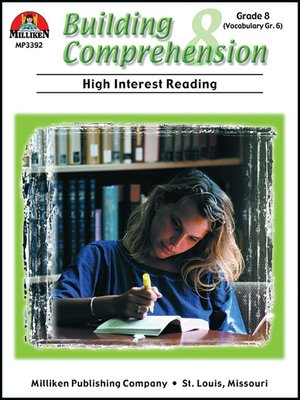 cover image of Building Comprehension - Grade 8