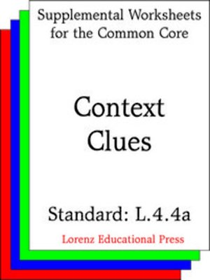 cover image of CCSS L.4.4a Context Clues