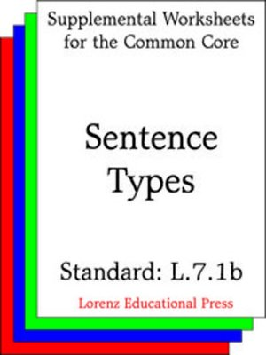 cover image of CCSS L.7.1b Sentence Types