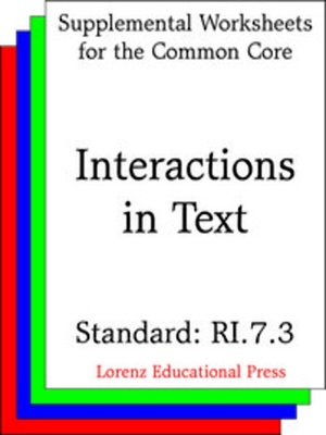 cover image of CCSS RI.7.3 Interactions in Text