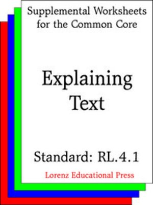 cover image of CCSS RL.4.1 Explaining Text