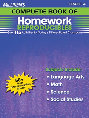 cover image of Milliken's Complete Book of Homework Reproducibles - Grade 4