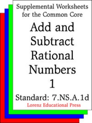 cover image of CCSS 7.NS.A.1d Add and Subtract Rational Numbers 1