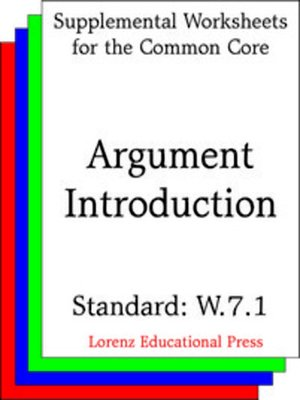 cover image of CCSS W.7.1 Argument Introduction