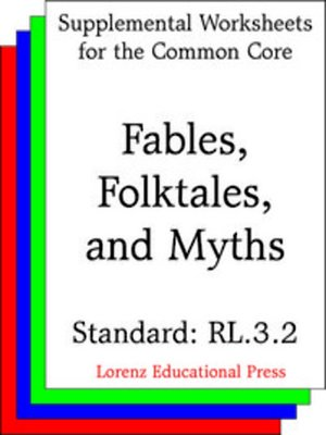 cover image of CCSS RL.3.2 Fables, Folktales and Myths