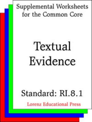 cover image of CCSS RI.8.1 Textual Evidence