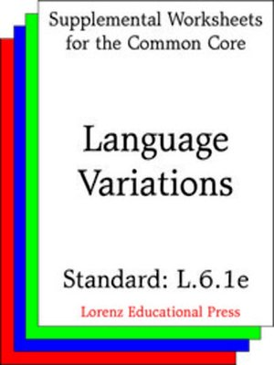 cover image of CCSS L.6.1e Language Variations