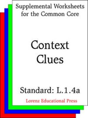 cover image of CCSS L.1.4a Context Clues