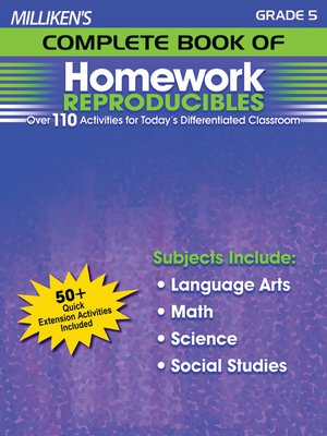 cover image of Milliken's Complete Book of Homework Reproducibles - Grade 5