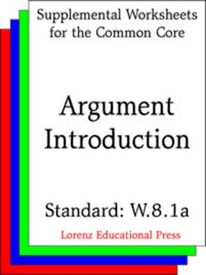 cover image of CCSS W.8.1a Argument Introduction