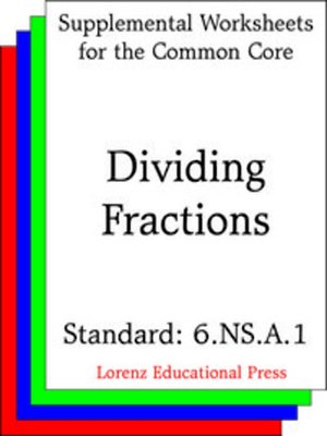 cover image of CCSS 6.NS.A.1 Dividing Fractions