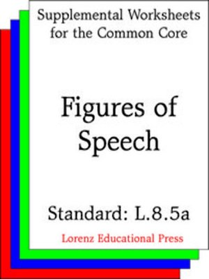 cover image of CCSS L.8.5a Figures of Speech