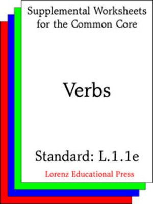 cover image of CCSS L.1.1e Verbs