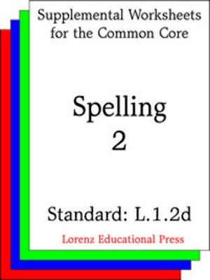 cover image of CCSS L.1.2d Spelling 2