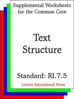 cover image of CCSS RI.7.5 Text Structure
