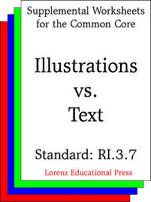 cover image of CCSS RI.3.7 Illustrations vs Text