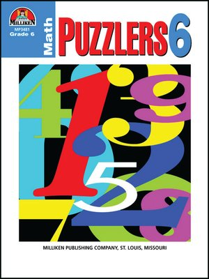 cover image of Math Puzzlers - Grade 6