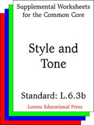 cover image of CCSS L.6.3b Style and Tone