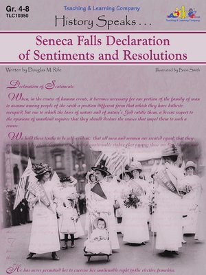 cover image of Seneca Falls Declaration of Sentiments and Resolutions