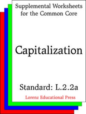 cover image of CCSS L.2.2a Capitalization