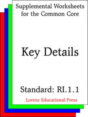 cover image of CCSS RI.1.1 Key Details