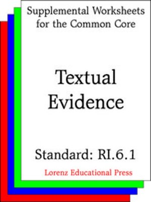 cover image of CCSS RI.6.1 Textual Evidence