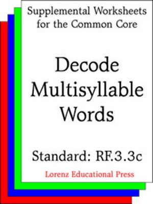 cover image of CCSS RF.3.3c Decode Multisyllable Words