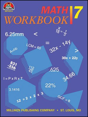 cover image of Math Workbook - Grade 7