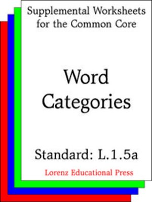 cover image of CCSS L.1.5a Word Categories