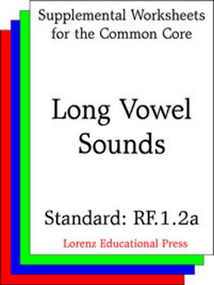 cover image of CCSS RF.1.2a Long Vowel Sounds