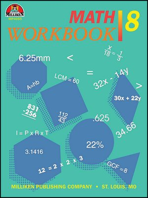 cover image of Math Workbook - Grade 8