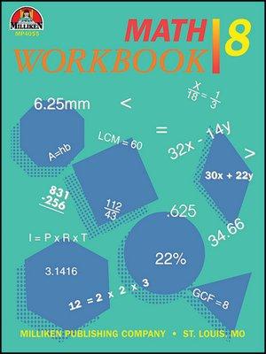 cover image of Math Workbook - Grade 8