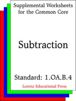 cover image of CCSS 1.OA.B.4 Subtraction