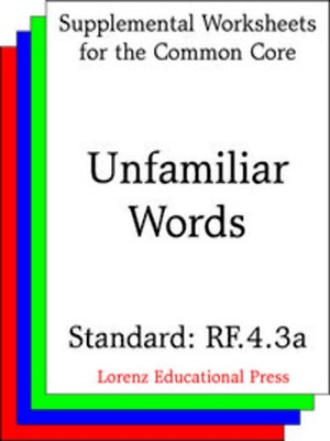 cover image of CCSS RF.4.3a Unfamiliar Words