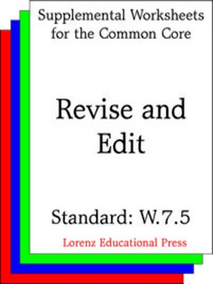 cover image of CCSS W.7.5 Revise and Edit