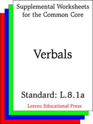 cover image of CCSS L.8.1a Verbals