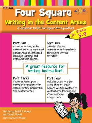 cover image of Four Square Writing in the Content Areas for Grades 5-9