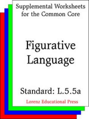 cover image of CCSS L.5.5a Figurative Language