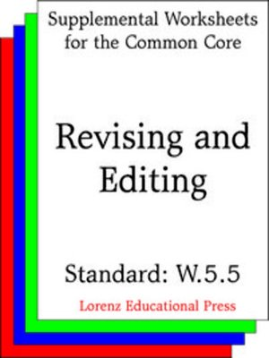 cover image of CCSS W.5.5 Revising and Editing