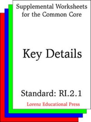cover image of CCSS RI.2.1 Key Details