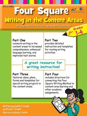 cover image of Four Square Writing in the Content Areas for Grades 1-4