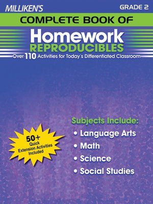 cover image of Milliken's Complete Book of Homework Reproducibles - Grade 2